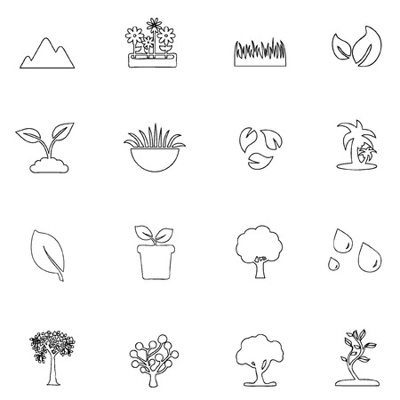 Nature icon line Vector