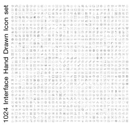Interface Hand getrokken lijn pictogramserie