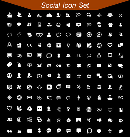 search engine marketing: Social Icon Set