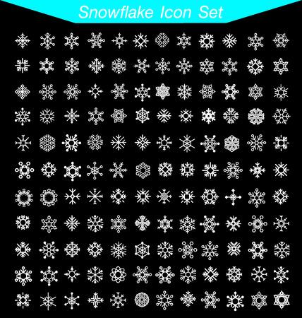 estado del tiempo: Los copos de nieve icono Set  Vectores
