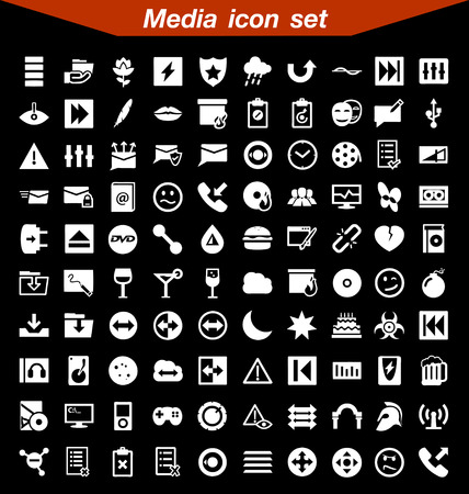 internet buttons: Media icon set