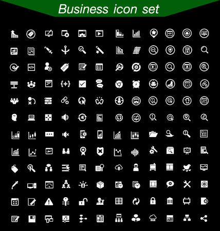 fax: Business icons Set