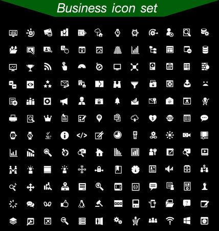 Negocio conjunto de iconos
