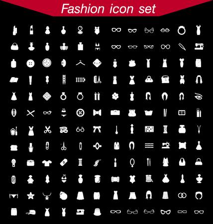 bag icon: Fashion icon set Illustration