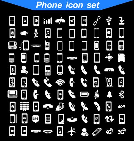 Teléfono conjunto de iconos Ilustración de vector