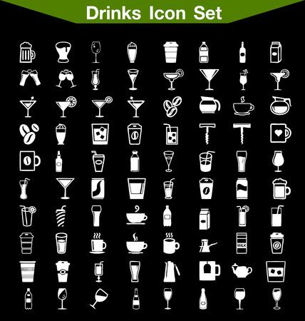 whie wine: Drinks icon set