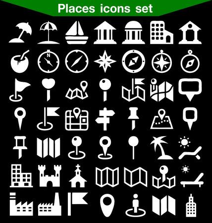places: Places icon set
