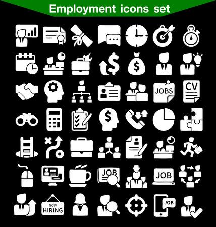 Werkgelegenheid icon set