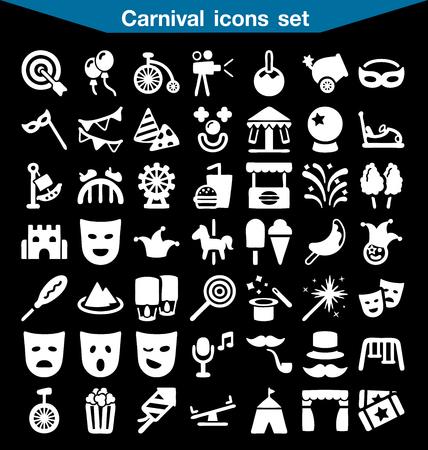 ferriswheel: Carnival icon set Illustration