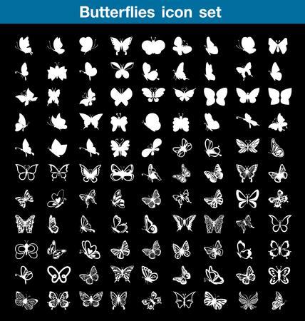 feeler: Butterfly icon set