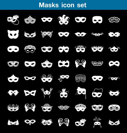 Masks icon set