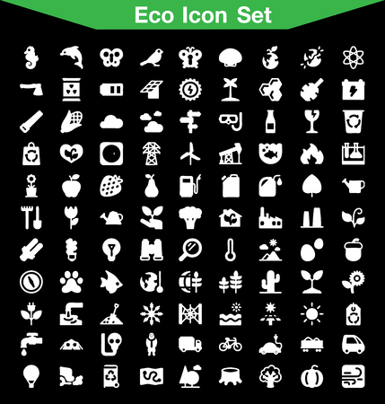 antipollution: Ecology icon set