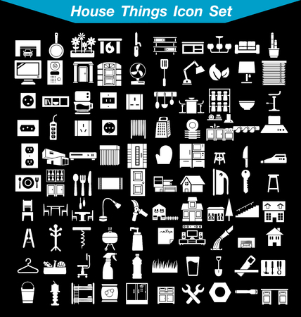 thermostat: House things icon set