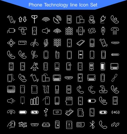 phone icon: Phone icon set Illustration