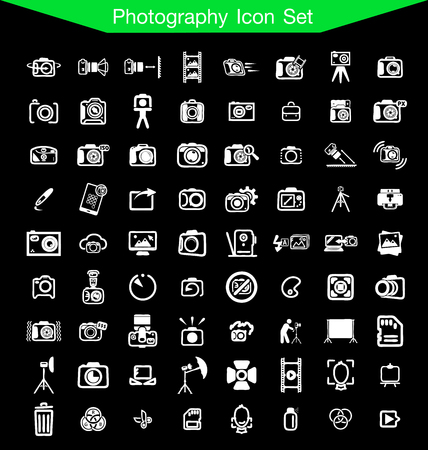 retouch: photography icon set