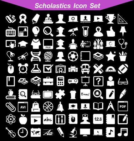 conjunto de iconos escolásticos
