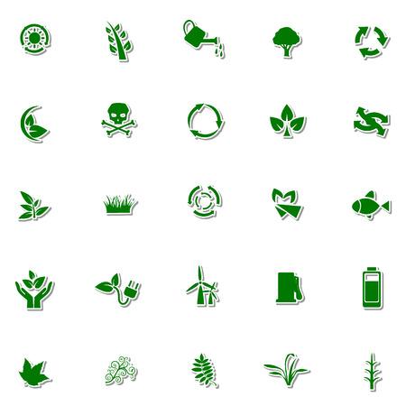 Ecology and Nature icon set Illustration