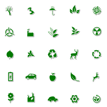 antipollution: Ecology and Nature icon set Illustration