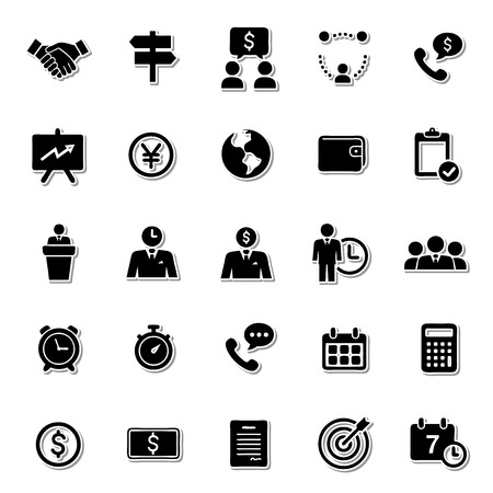 comercial: Trading icon set Illustration
