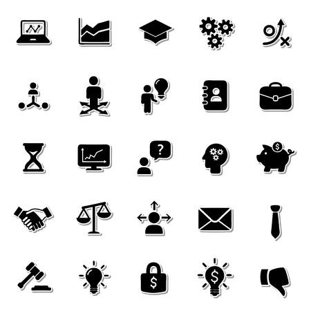 stock exchange brokers: Trading icon set Illustration