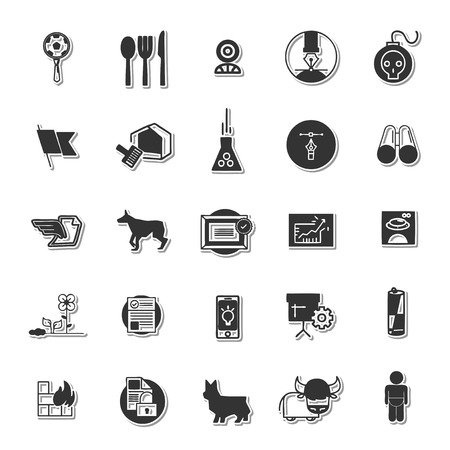 crouch: Several icon set