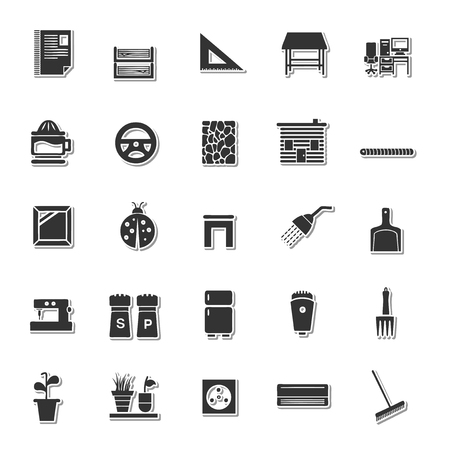 simplus: House icon set Illustration
