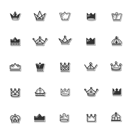 corona reale set di icone