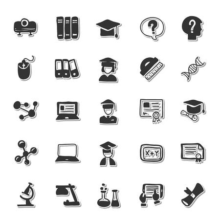 learning icon: Education icon set Illustration