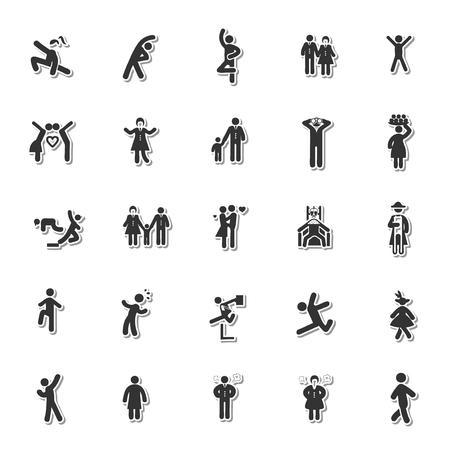 rewarding: Human icon set Illustration