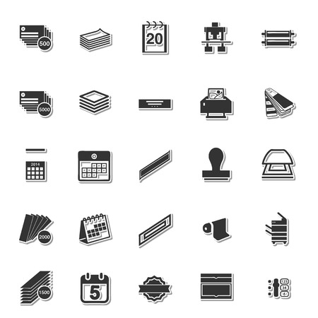 Briefpapier icon set