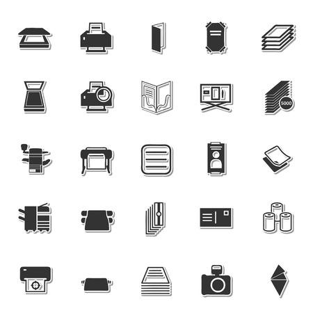 uploading: Stationery icon set