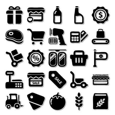 sardine: Supermarket icon set Illustration