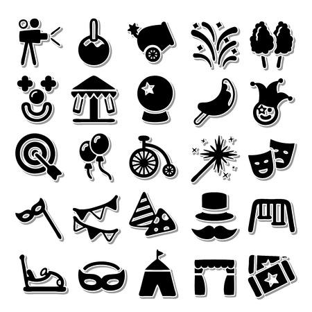 Carnival icon set Vector Illustration