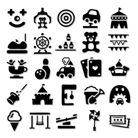 park: Amusement Park icon set