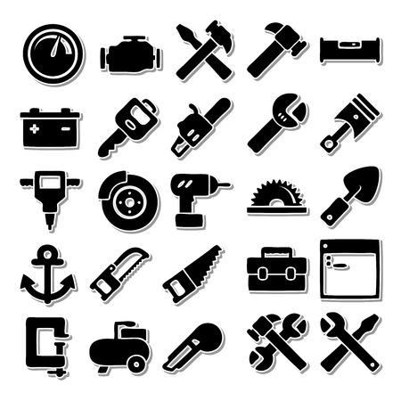 Uitrustingsstukken icon set