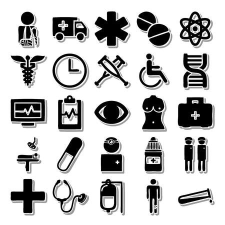 eye bandage: Health In the hospital icon set