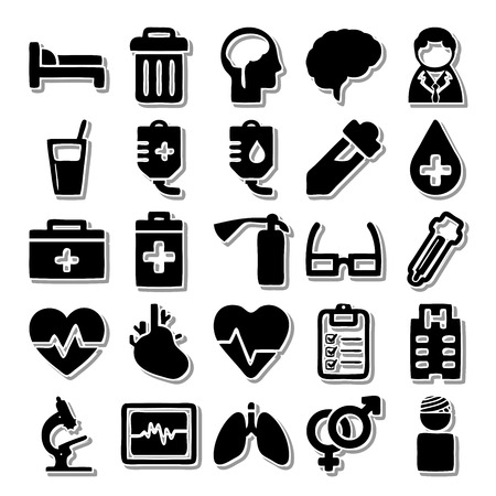 hospital icon: Health In the hospital icon set