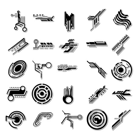 computer art: Electron icon set Illustration