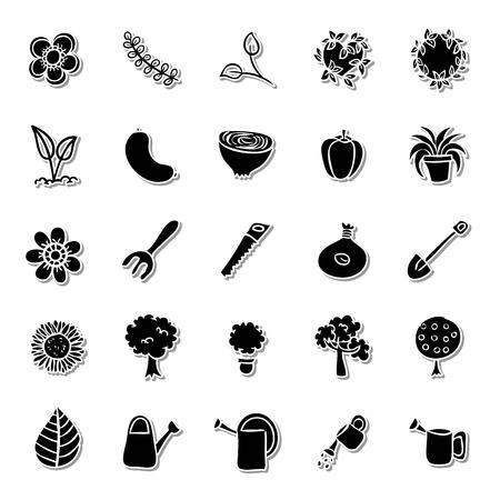 pruning: Gardening icon set Illustration