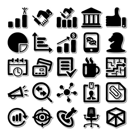 writing chair: Business Office icon set