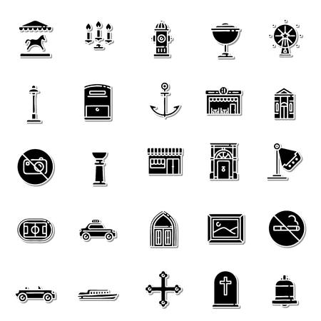 places: City Places icon set Illustration