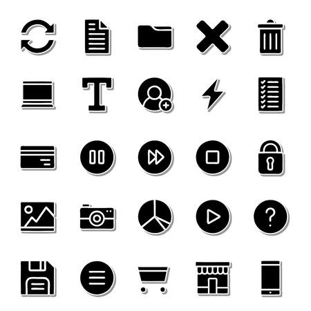 world receiver: Thick icon set