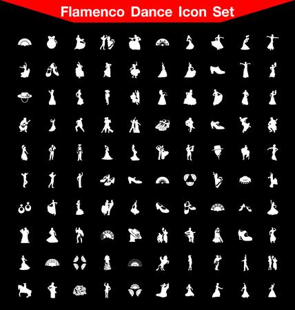Flamenco Dance icon set