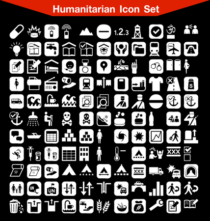 humanitarian: Humanitarian icon set Illustration
