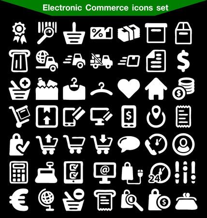 electronic commerce: Electronic Commerce icon set