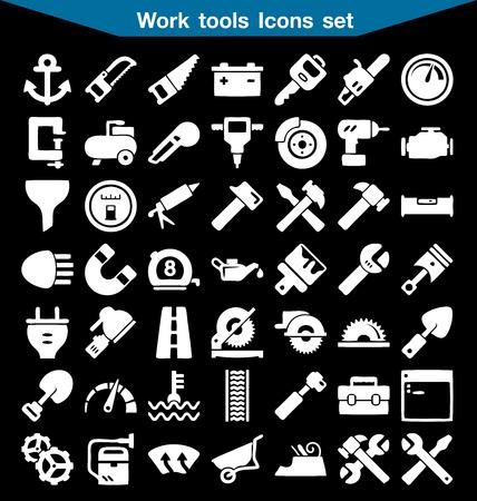 herramientas de trabajo: herramientas de trabajo conjunto del icono Vectores