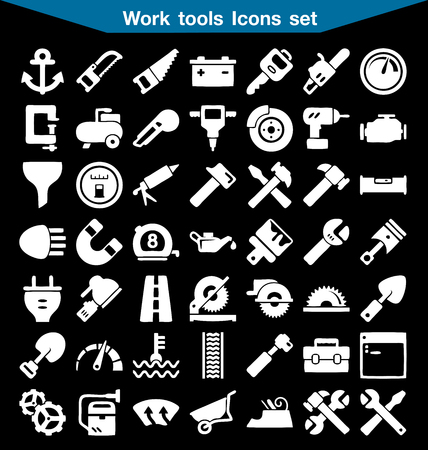 tools icon: Work tools icon set
