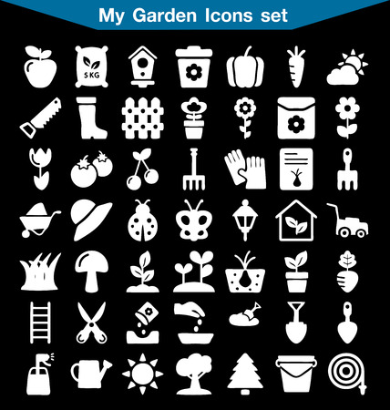 pruning: My Garden icon set Illustration