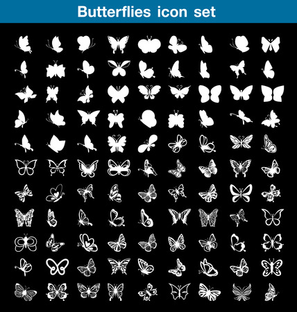 icon set: Butterfly icon set