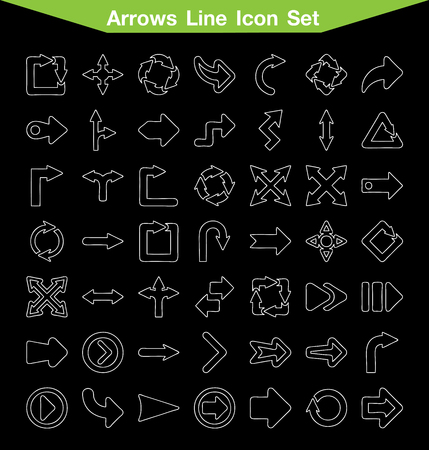 rotated: Arrows line icon set